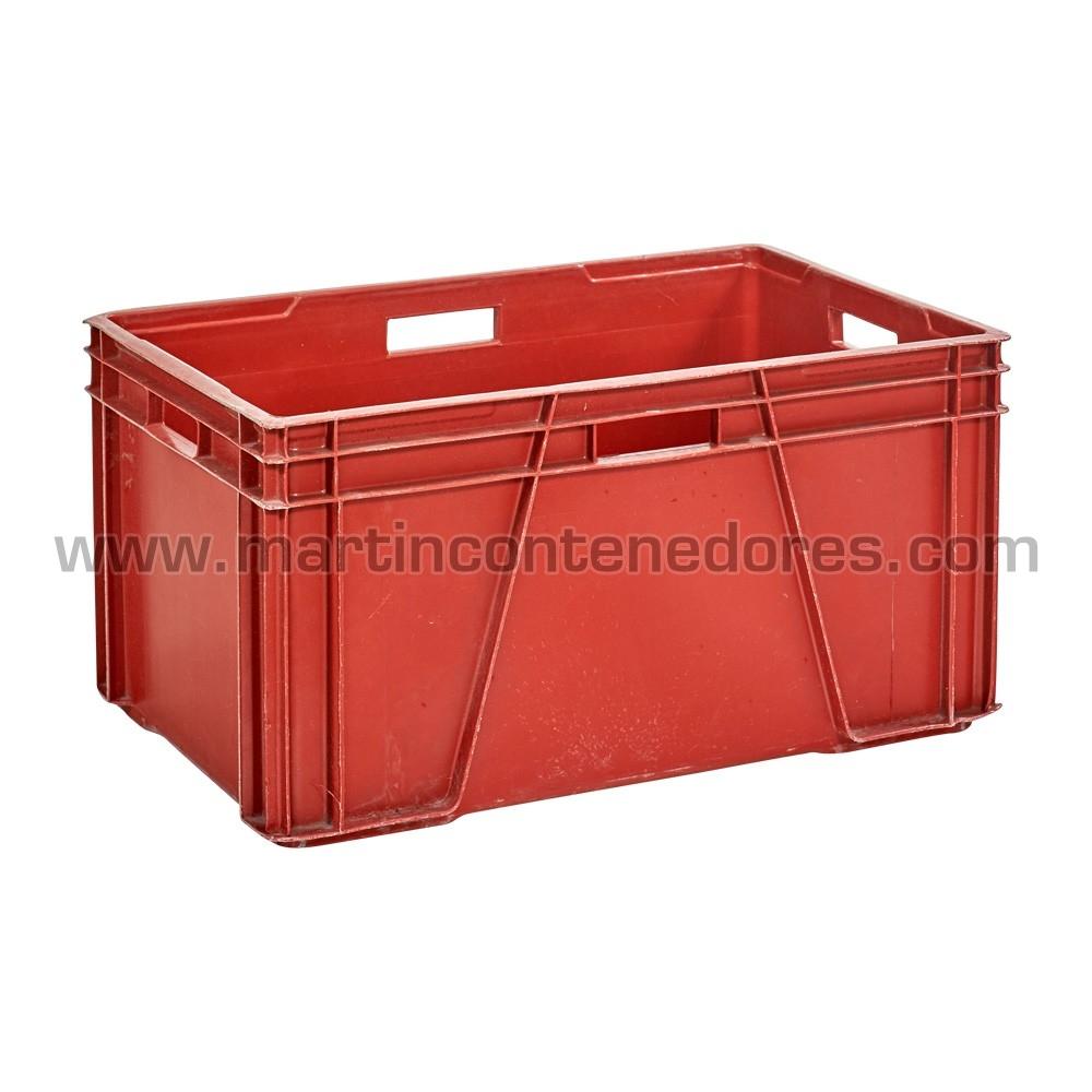 Caja plástica apilabe color rojo