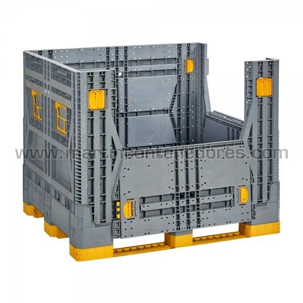Contenedor plástico con puerta