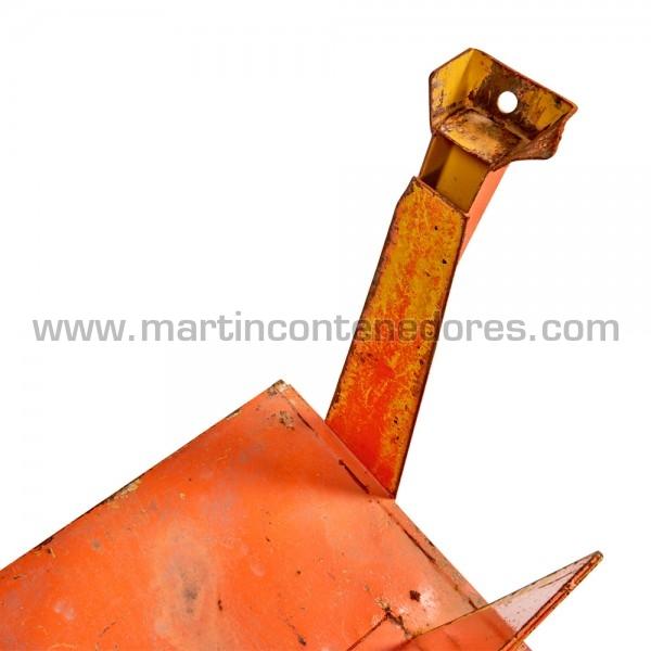 Palet metálico usado apilable fabricado en acero