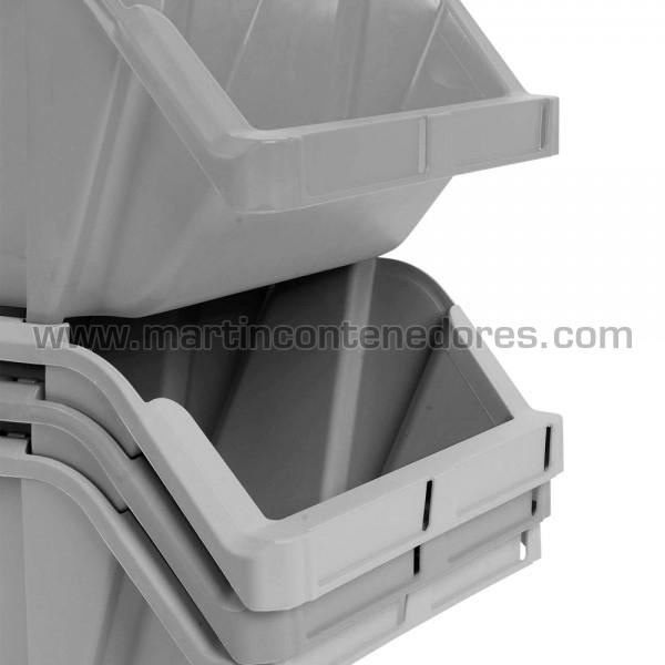 Gaveta plástica gris