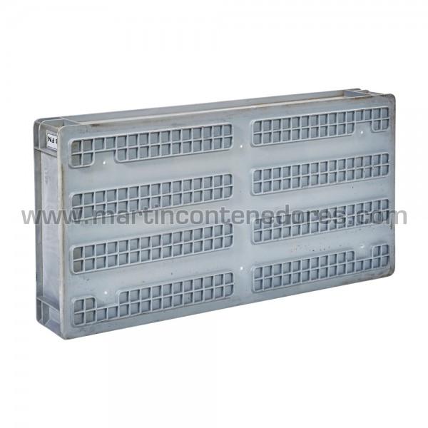 Caja plástica 800x400x120/110 mm