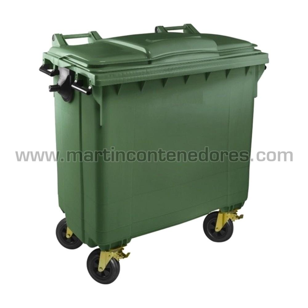 Contenedor basura verde materia orgánica