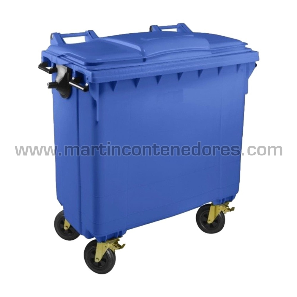 Contenedor basura azul materia orgánica