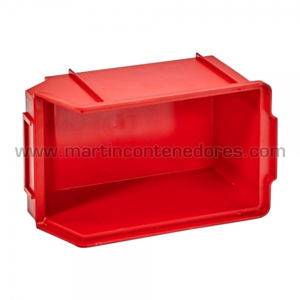 Gaveta plástica rojo