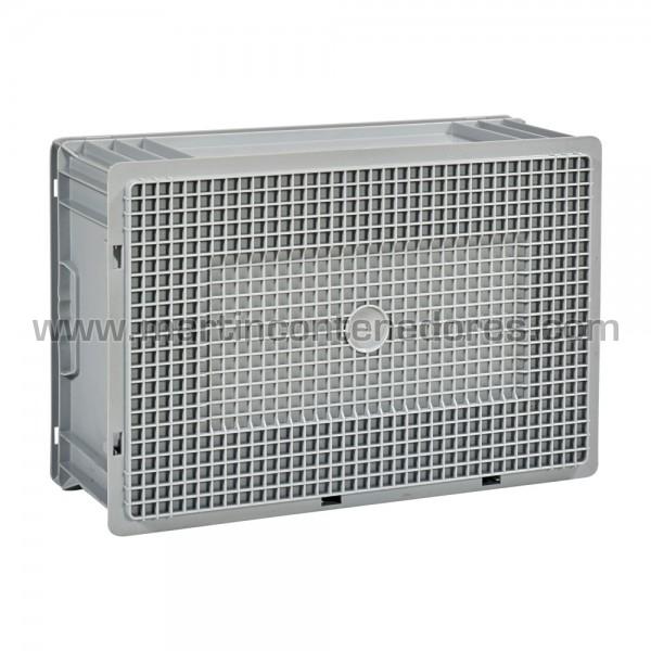 Caja plástica 600x400x220/204 mm