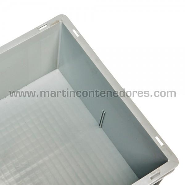 Caja plástica gris