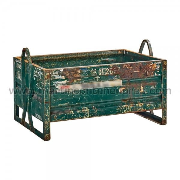 Contenedor Metálicos fabricado en chapa color verde usado