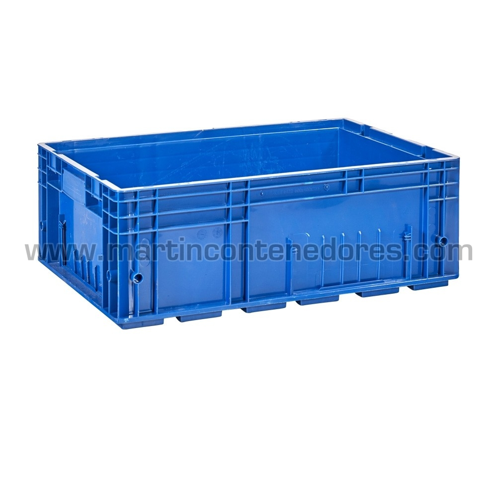 Caisse plastique avec poignée fermée