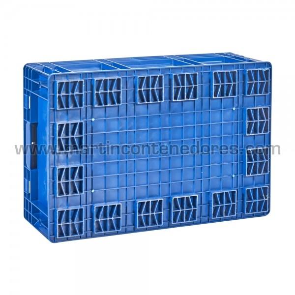 Caja plástica azul