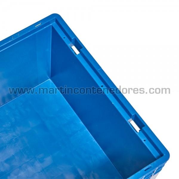 Caja plástica apilable
