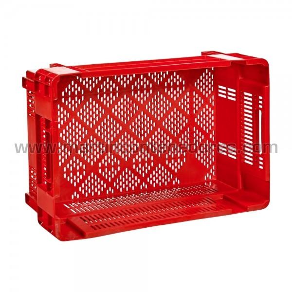 Plastic box perforated