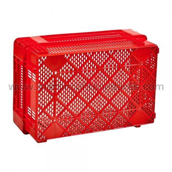 Plastic box half-nestable