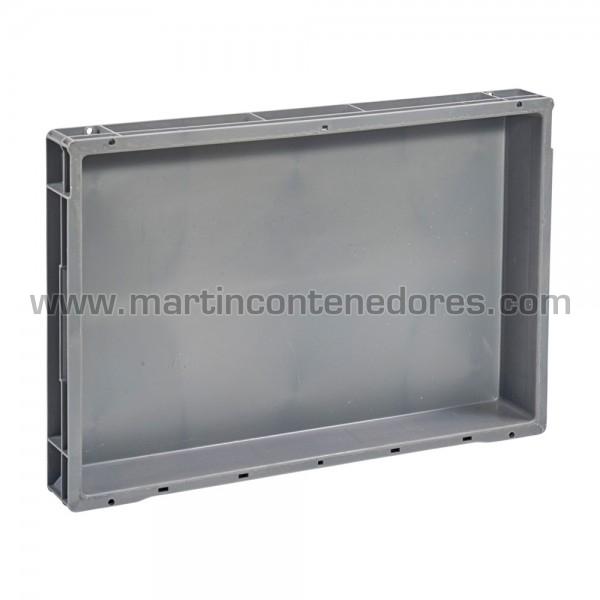 caja plastica gris