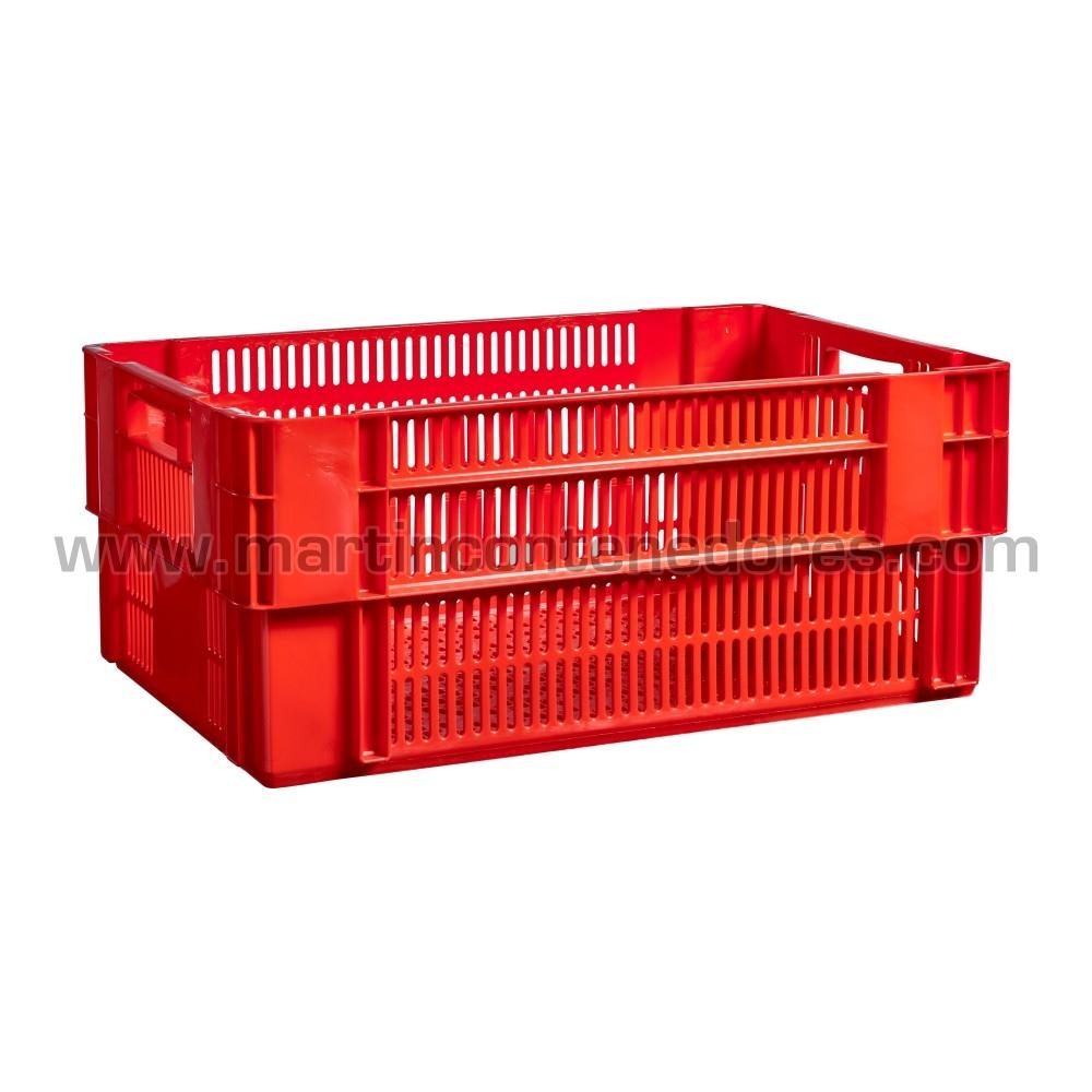 Caja plástica semi-encajable