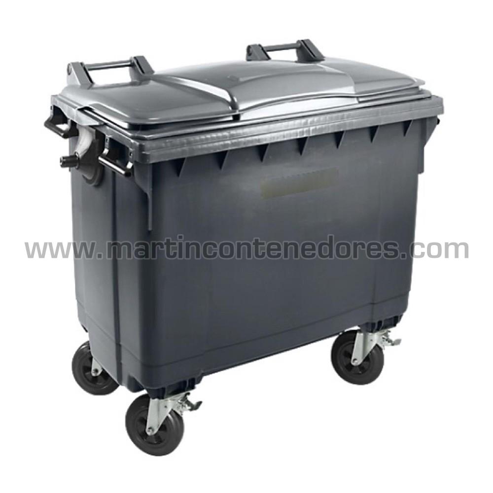 Contenedor basura gris materia orgánica