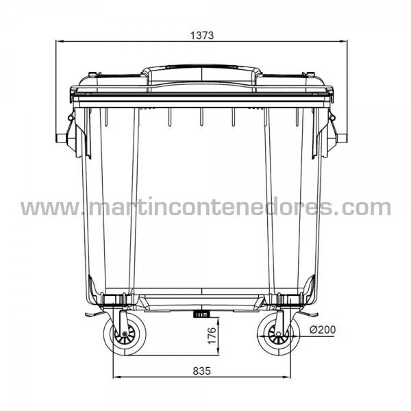 Conteneur pour déchets avec parois 6 mm d'épaisseur