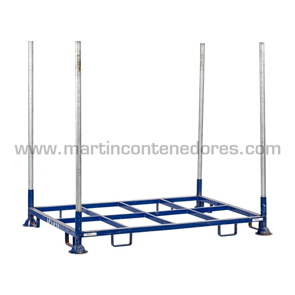 Rack usado para palets apilable color azul