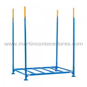 Rack usado color azul apilable color azul versátil para palets