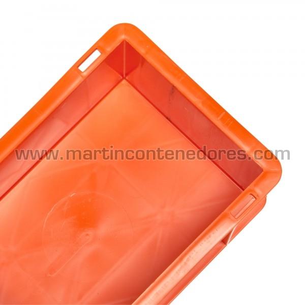 Caja color naranja