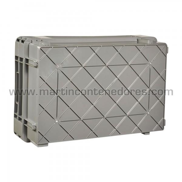 Caja plástica color gris