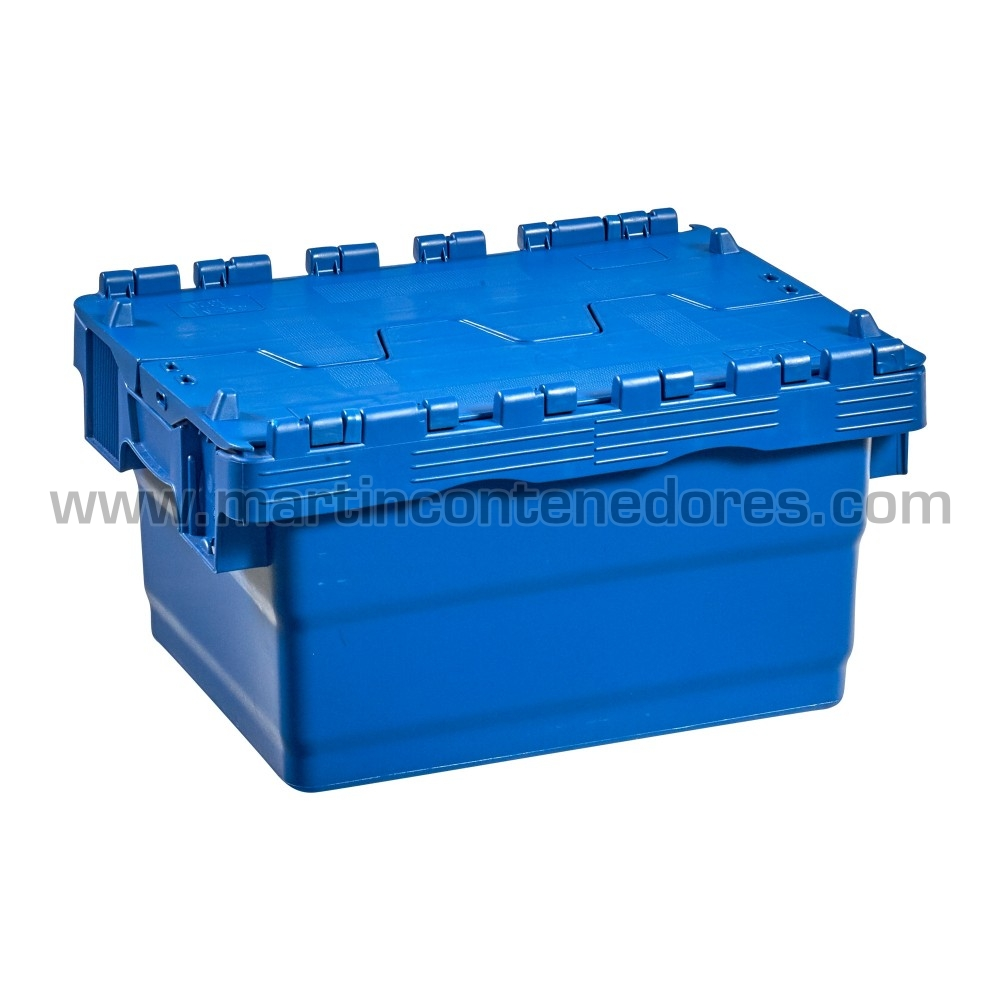 Caja encajable con tapa nuevo color azul