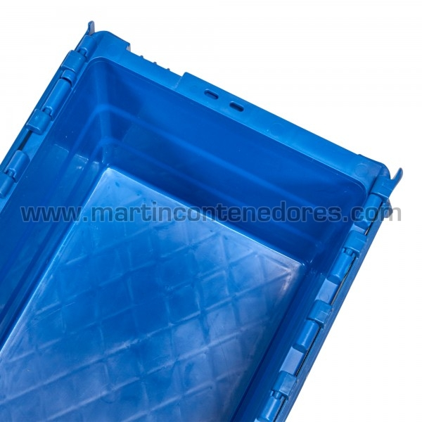 Caja plastica 400x300x250 color azul