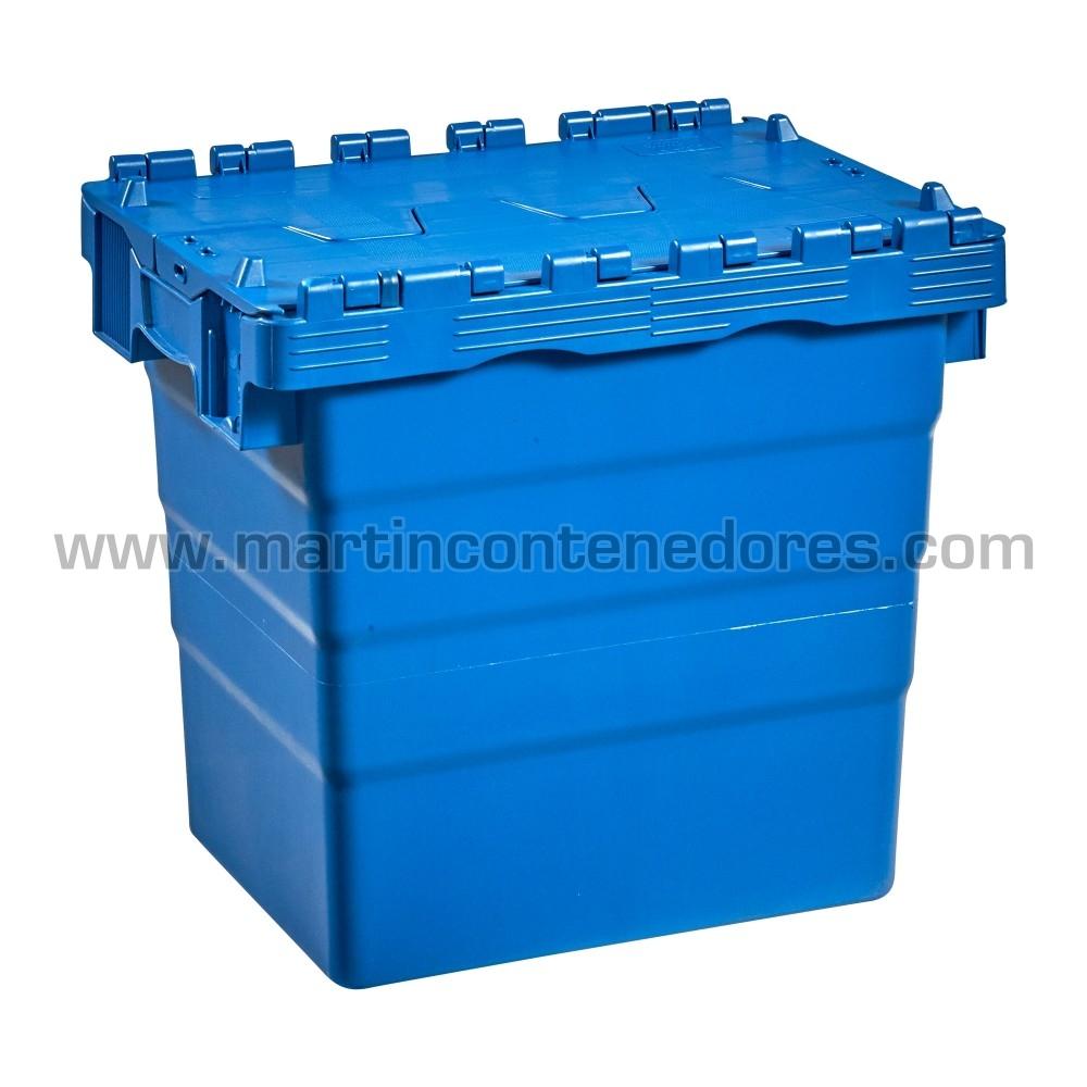 Caixa encaixável de plástico