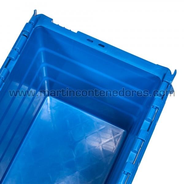 caja apilable con porta - etiquetas
