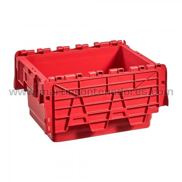 Caixa encaixável vermelha