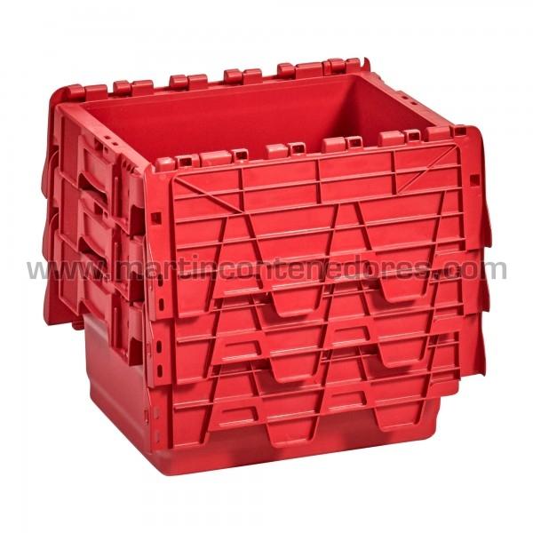 Cajas nuevas apilable color rojo