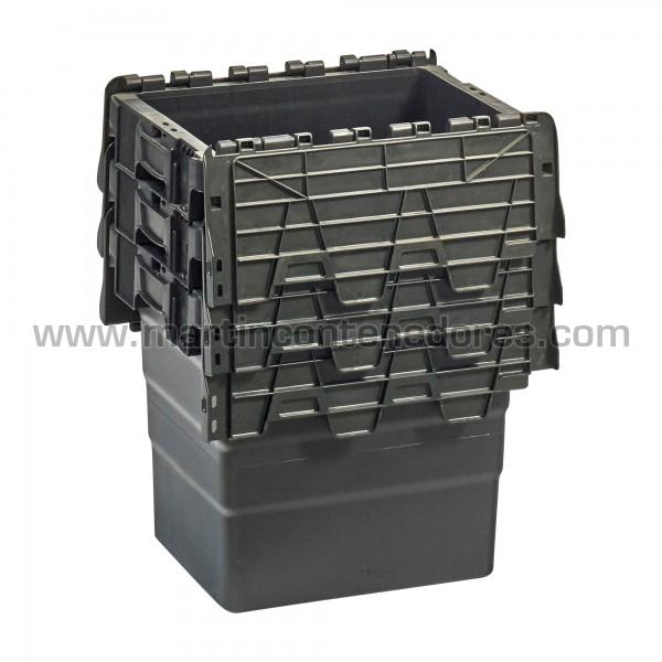 Caja encajable color negro