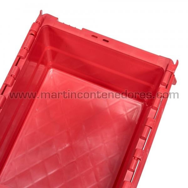 Caixa encaixável com tampa com capacidade de 16 litros