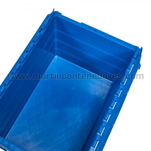 Caixa encaixável com 4 portas etiquetas