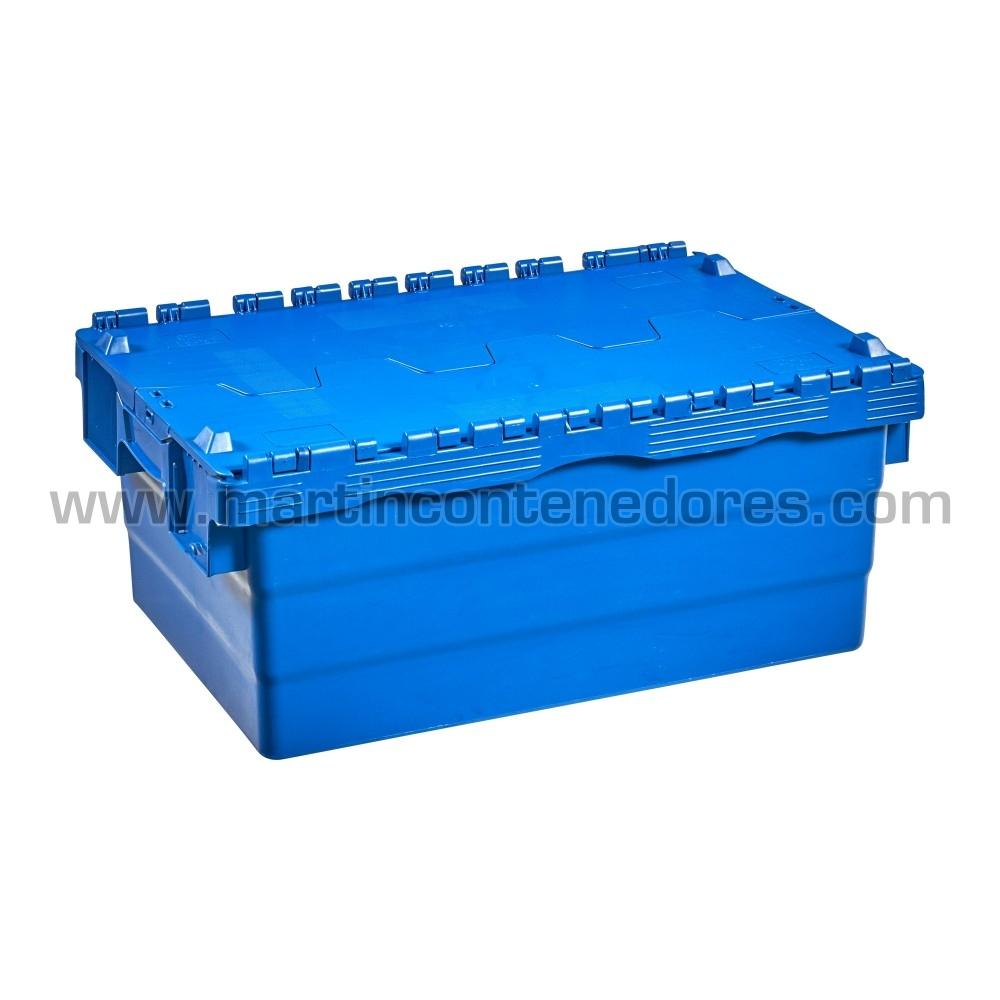 Cajas plasticas con tapa color azul