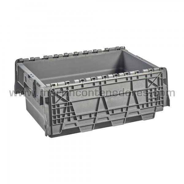 Caja con 4 porta etiquetas y asas integradas ergonómicas