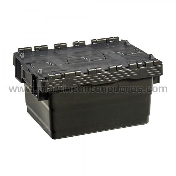 Caja encajable con tapa nuevo color negro