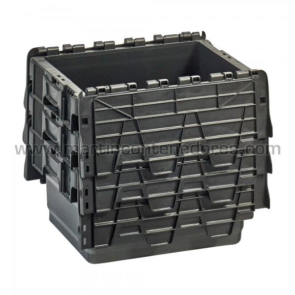 Caja plastica con asa cerrada nuevo