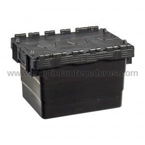 Caja encajable con tapa fabricado en polipropileno