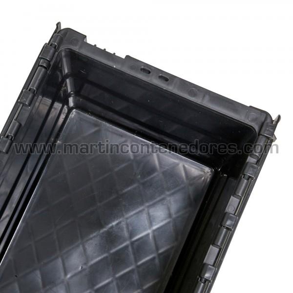 Caja plastica 400x300x250 nueva con asa cerrada