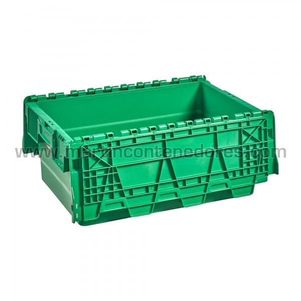 Caja plastica color verde nueva