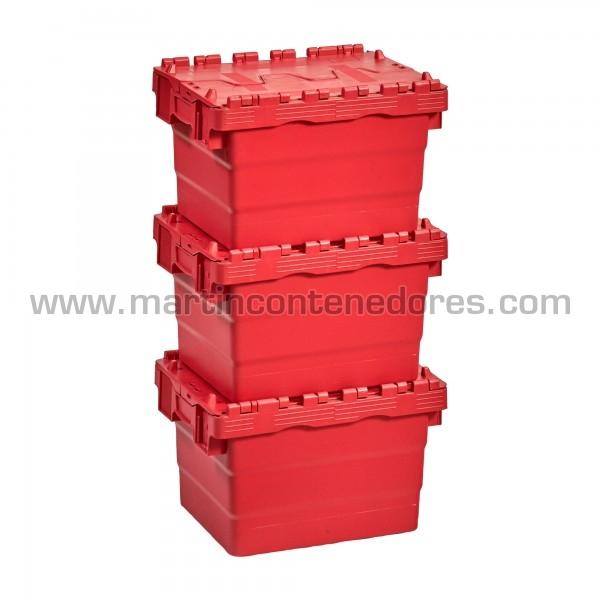 Caja plastica encajable nueva color rojo