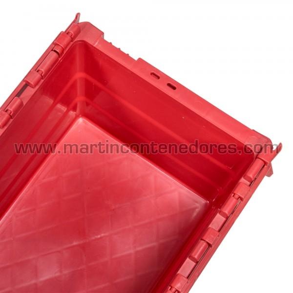 Caixa encaixável com tampa empilhável