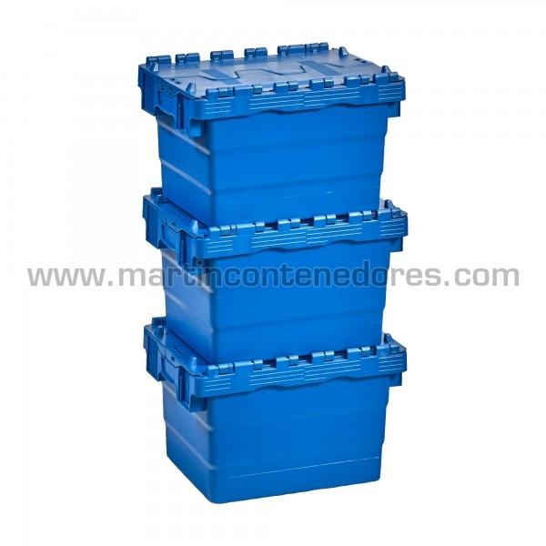 Caja encajable nueva color azul