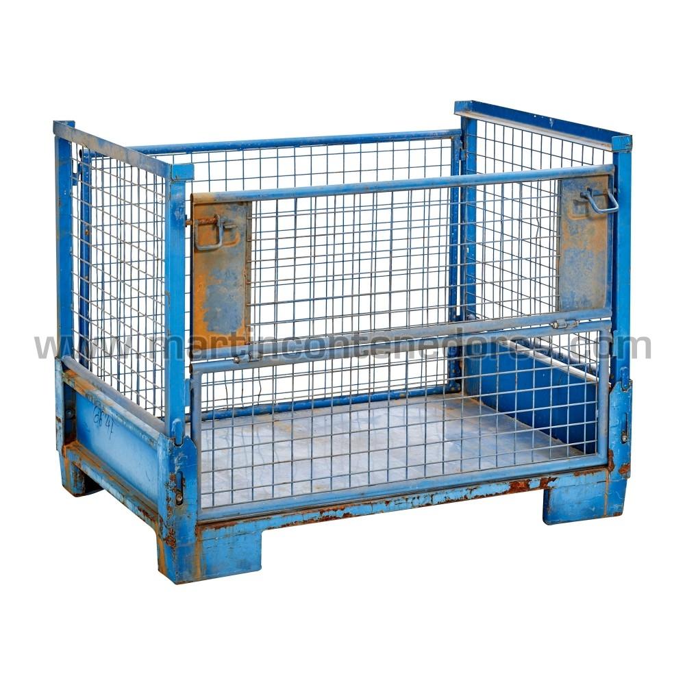 Eurocontenedor con capacidad de carga de 1000 kg usado