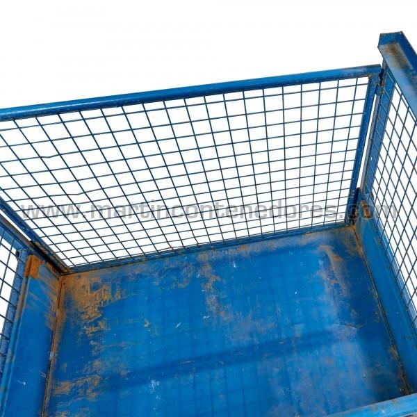 Eurocontenedor altura en peglado 300 mm usado color azul