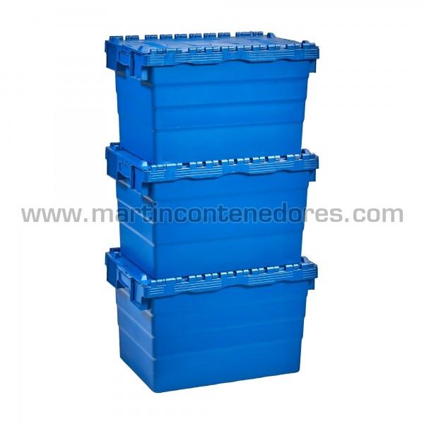 Caixa encaixável plástica empilhável