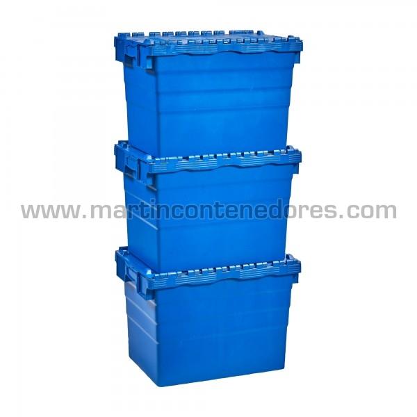 Caja plastica encajable 600x400x416/400 mm
