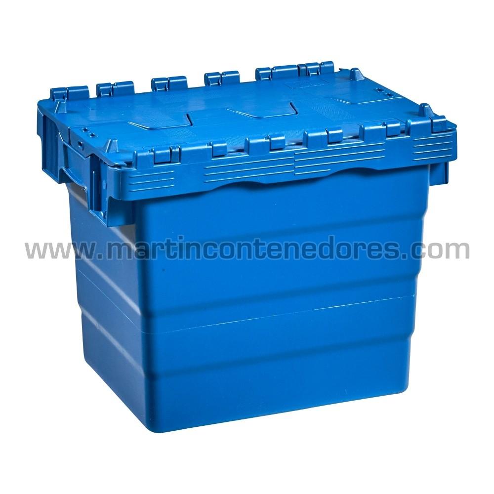 Caja plastica con tapa fabricado en polipropileno
