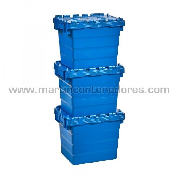 Caixa encaixável com tampa estanque