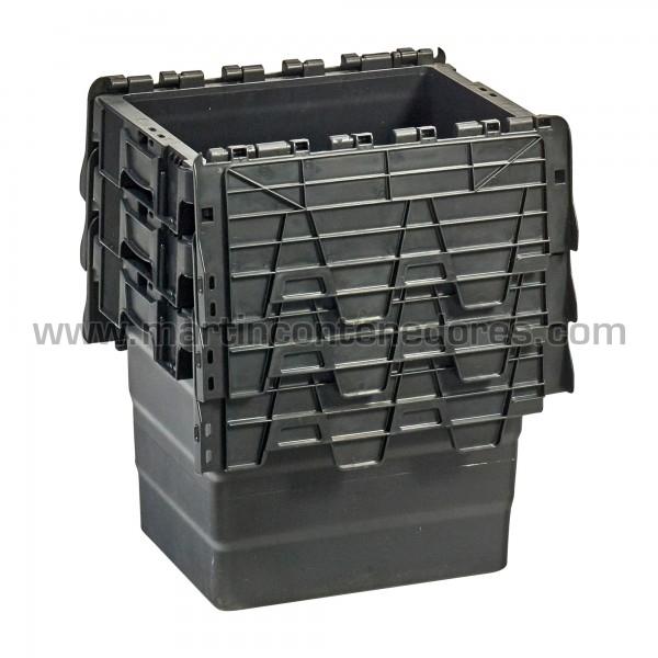Caja plastica con porta etiquetas fabricado en polipropileno